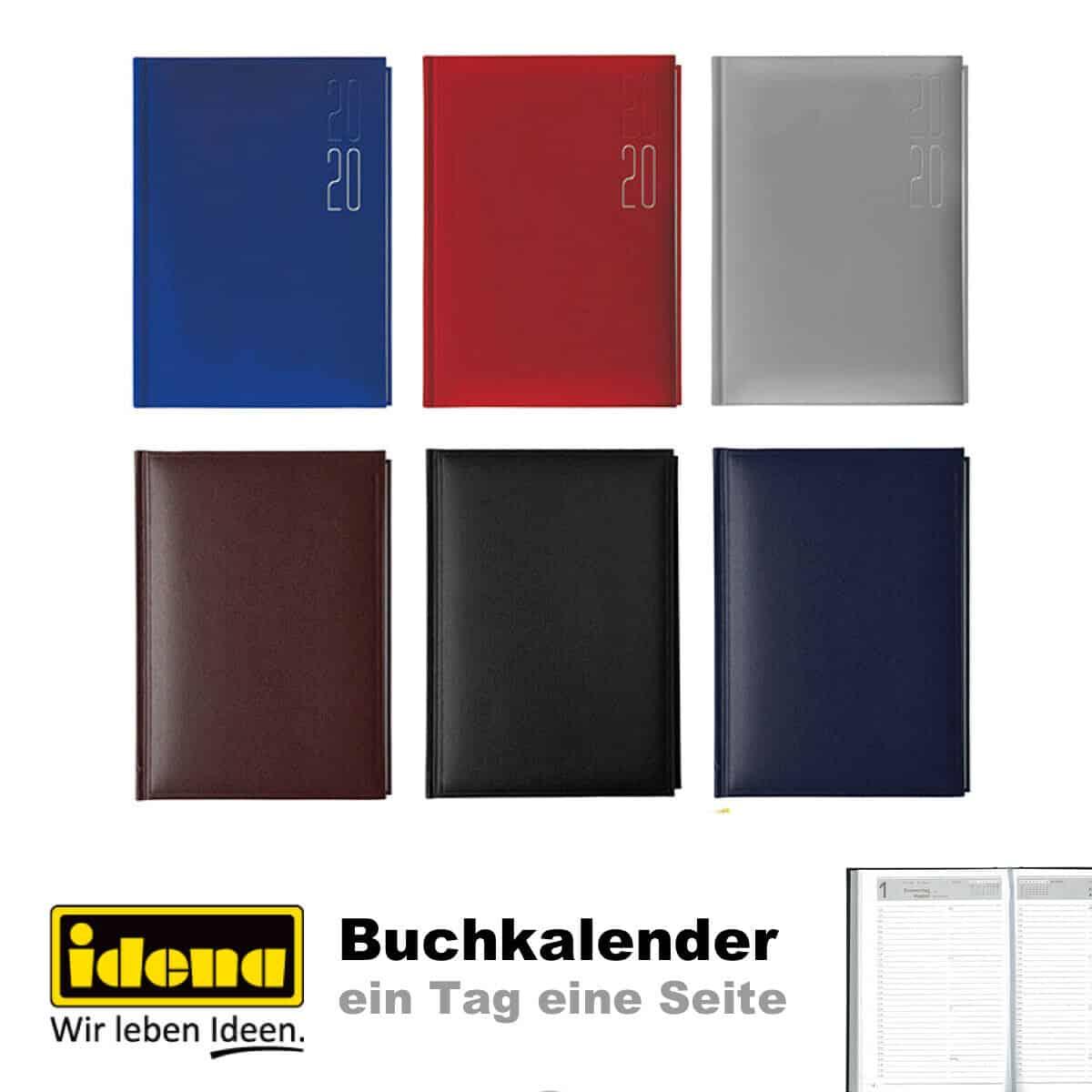 IDENA Buchkalender 2019 Tageskalender Chefkalender A5 1 Tag = 1 Seite Kalender